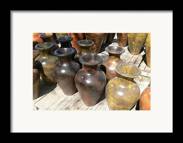 Pots Framed Print featuring the photograph Mexican Pots II by Scott Alcorn