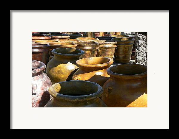 Pots Framed Print featuring the photograph Mexican Pots Iv by Scott Alcorn