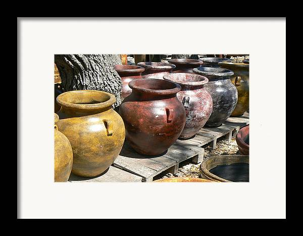 Pots Framed Print featuring the photograph Mexican Pots V by Scott Alcorn