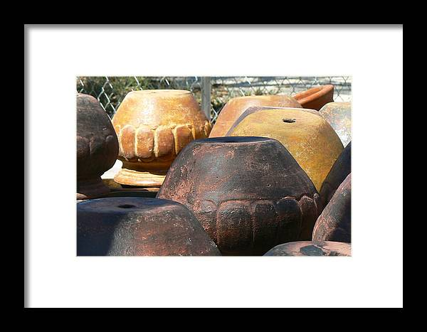 Pots Framed Print featuring the photograph Mexican Pots Vi by Scott Alcorn