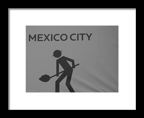 Mexico City Framed Print featuring the photograph Mexico City In Black And White by Rob Hans
