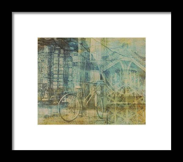 Paris Framed Print featuring the drawing Mgl - City Collage - Paris 01 by MGL Meiklejohn Graphics Licensing