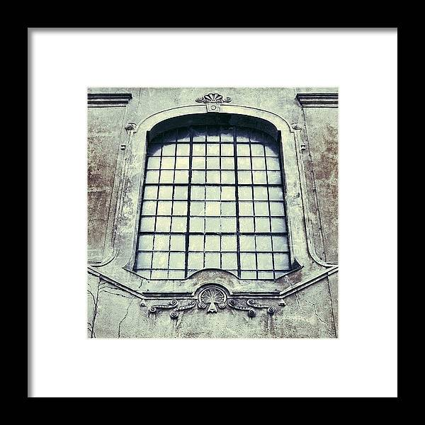 Building Framed Print featuring the photograph #mgmarts #building #old #architecture by Marianna Mills