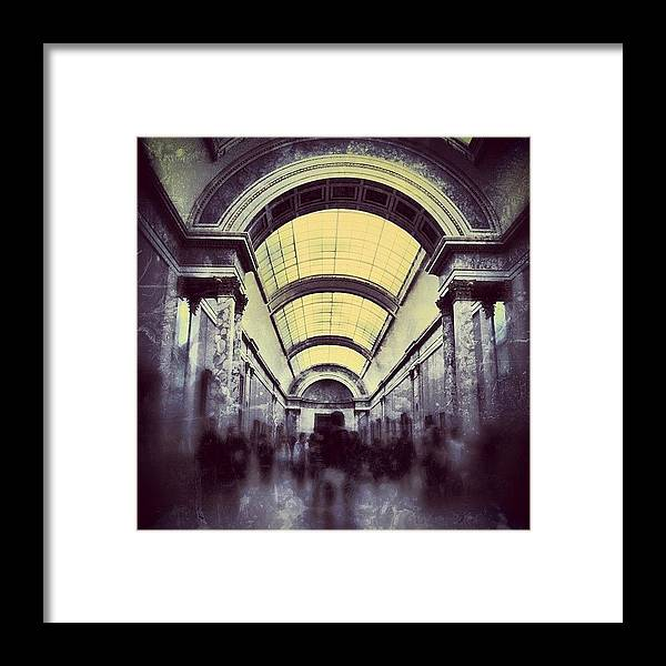 Beautiful Framed Print featuring the photograph #mgmarts #paris #france #europe #louvre by Marianna Mills