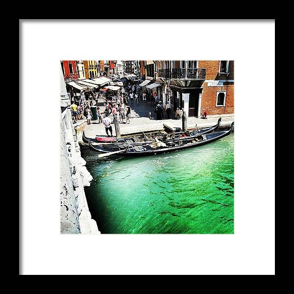 Europe Framed Print featuring the photograph #mgmarts #venice #italy #europe #canal by Marianna Mills