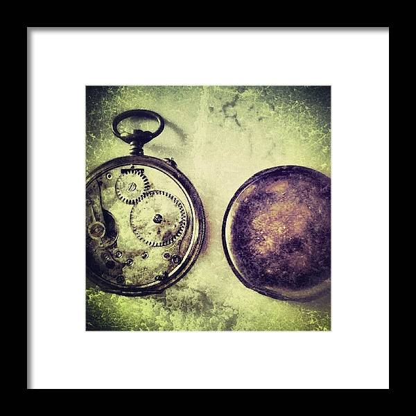 Europe Framed Print featuring the photograph #mgmarts #watch #time #bestogram by Marianna Mills