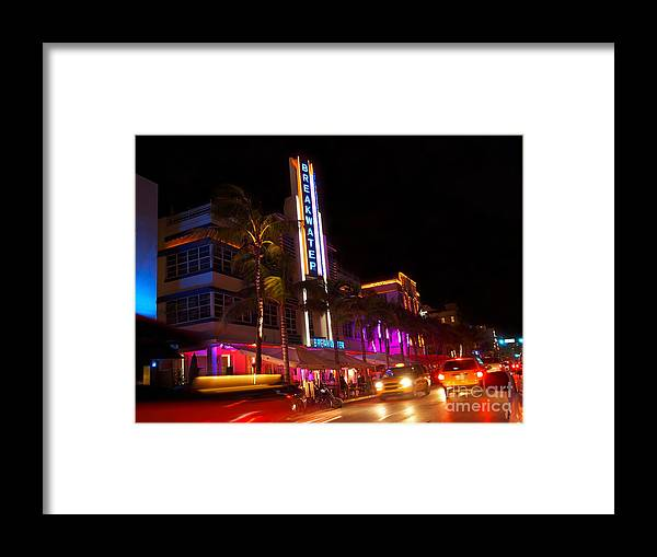 Miami Framed Print featuring the photograph Miami Art Deco Breakwater by Cheryl Moulton