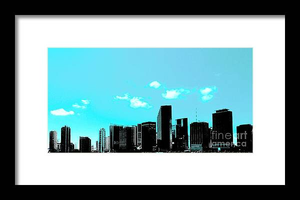 Miami Framed Print featuring the photograph Miami by David Call