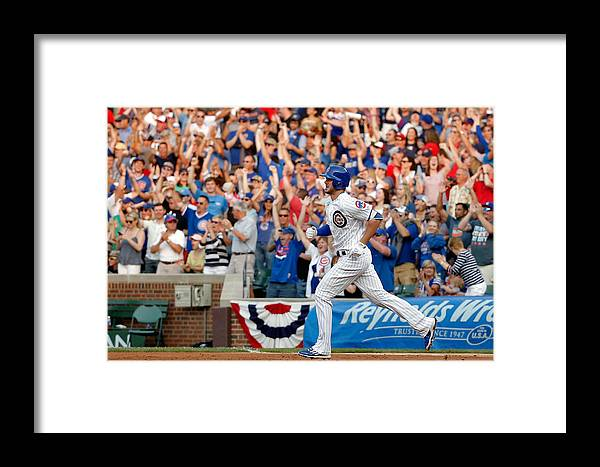 Second Inning Framed Print featuring the photograph Miami Marlins V Chicago Cubs by Jon Durr