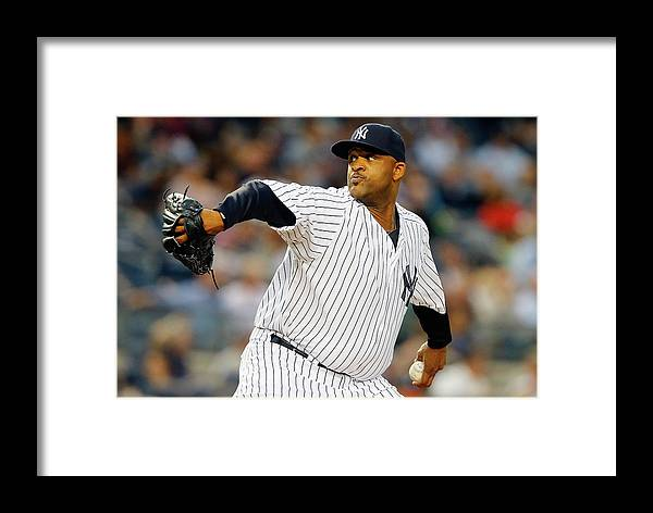 Second Inning Framed Print featuring the photograph Miami Marlins V New York Yankees by Jim Mcisaac