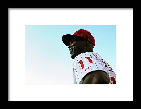 Citizens Bank Park Framed Print featuring the photograph Miami Marlins V Philadelphia Phillies by Drew Hallowell