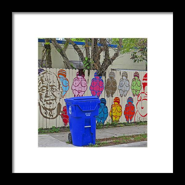 Downtown Miami Street Art. Framed Print featuring the photograph Miami Street Art by Dart and Suze Humeston