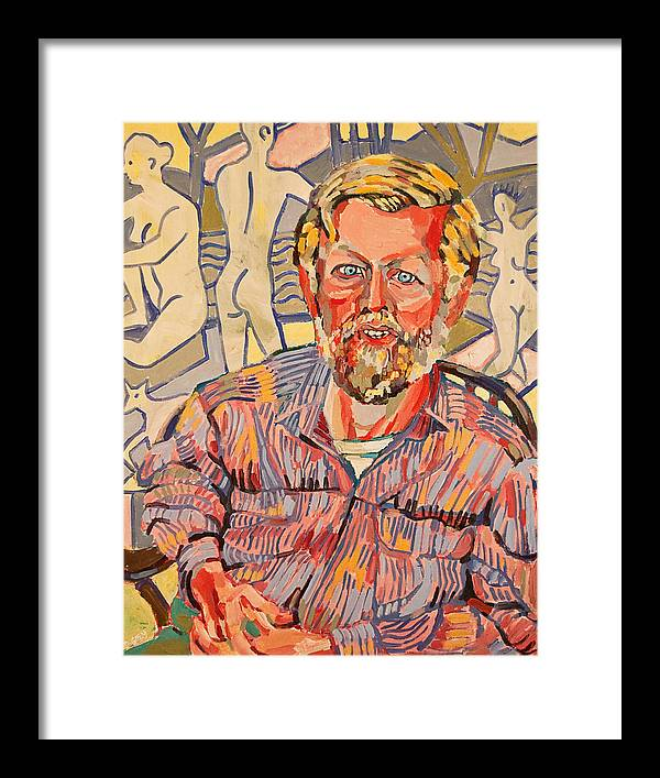 Portrait Of Mike Framed Print featuring the painting Michael by Doris Lane Grey