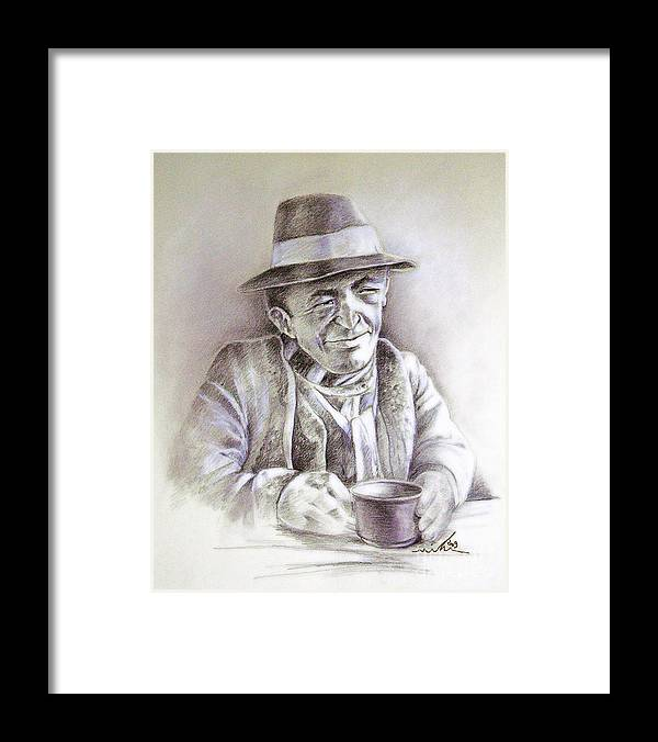 Portrait Michael Anderson Framed Print featuring the painting Michael J Anderson by Miki De Goodaboom