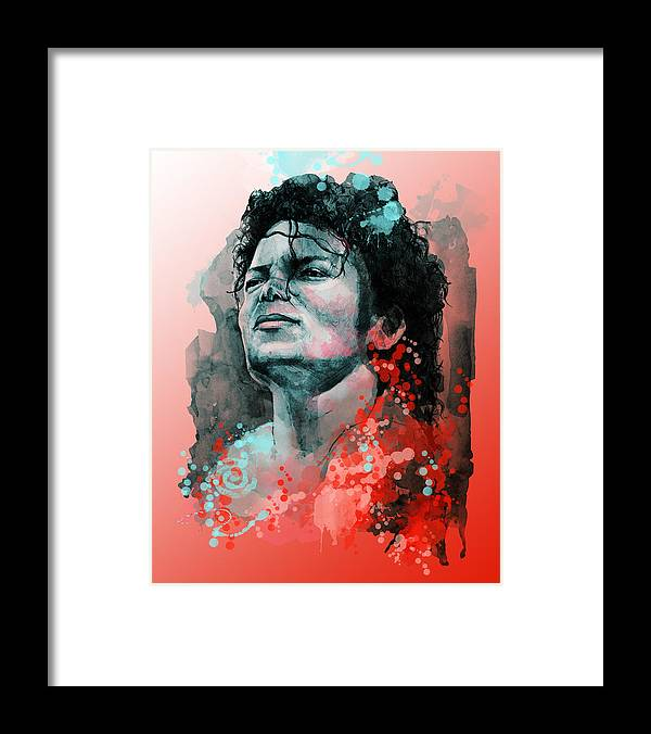 Michael Jackson Framed Print featuring the painting Michael Jackson 13 by Bekim M