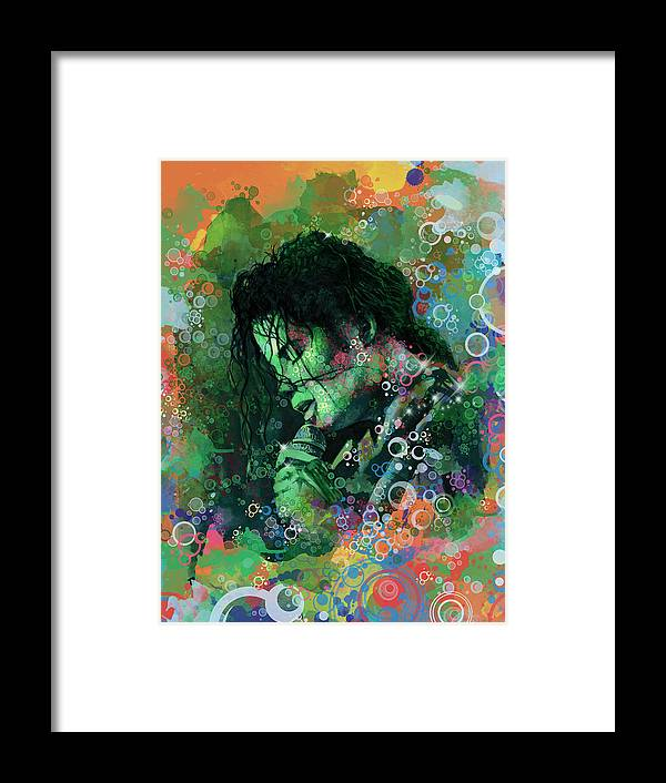 Michael Jackson Framed Print featuring the painting Michael Jackson 15 by Bekim M