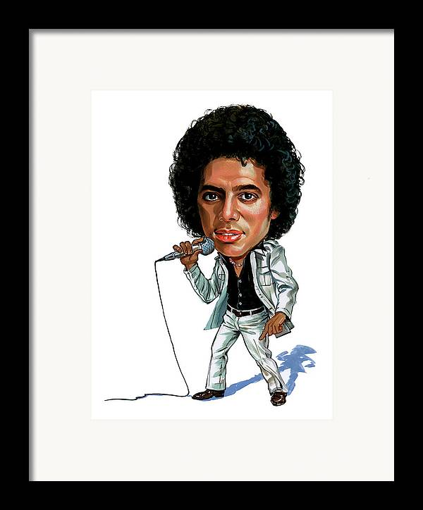 Michael Jackson Framed Print featuring the painting Michael Jackson by Art