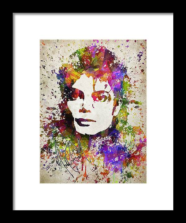 Michael Jackson Framed Print featuring the digital art Michael Jackson in Color by Aged Pixel