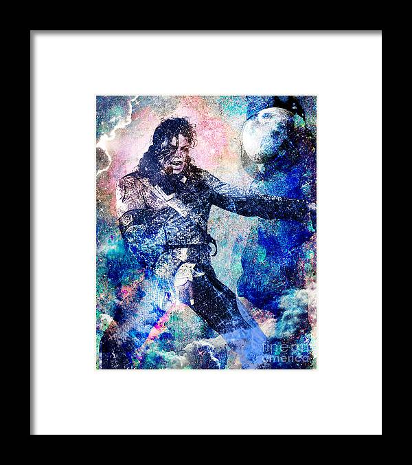 Rock Framed Print featuring the painting Michael Jackson Original Painting by Ryan Rock Artist