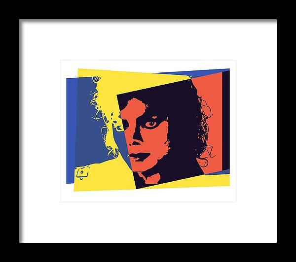 Michael Jackson Pop Art Framed Print featuring the digital art Michael Jackson Pop Art by Dan Sproul