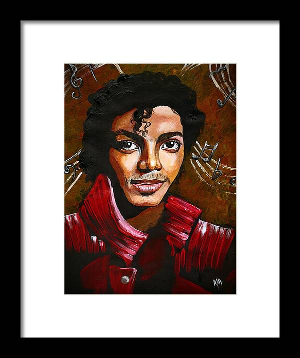 Music Framed Print featuring the photograph Michael Jackson by Artist RiA