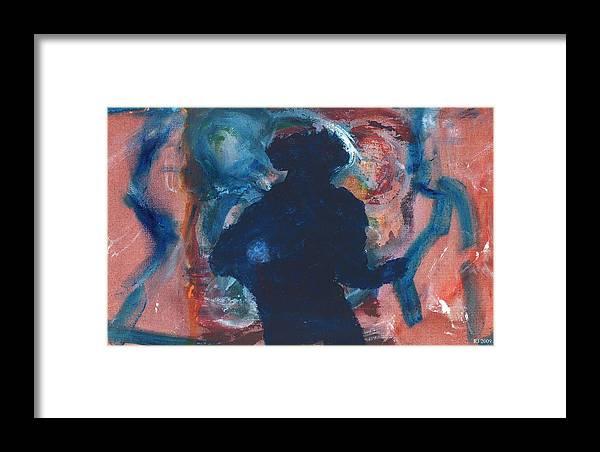Figurative Framed Print featuring the painting Michael Jackson by Ronald Jones aka RJ