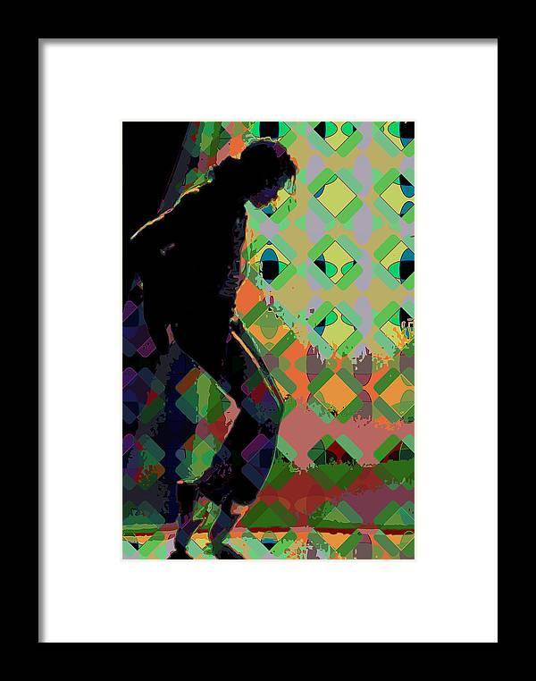 Michael Jackson Framed Print featuring the digital art Michael Jackson by Scott Davis