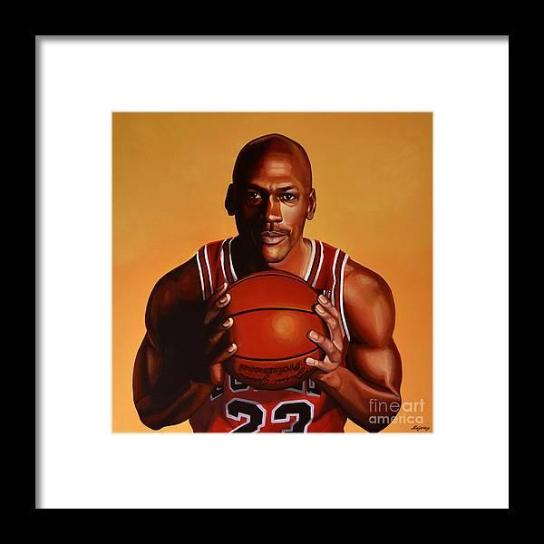 a3e8bbb11e7 Michael Jordan 2 Framed Print by Paul Meijering