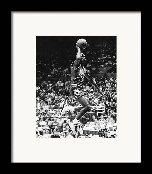 Classic Framed Print featuring the photograph Michael Jordan Gliding by Retro Images Archive