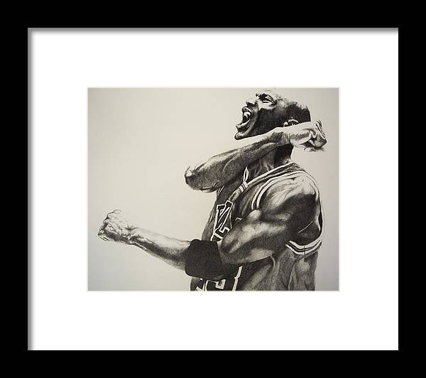 c978b698e30 Michael Jordan Framed Print by Jake Stapleton