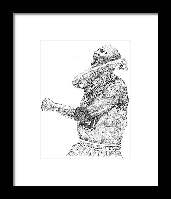 Michael Jordan Framed Print by Joe Rozek