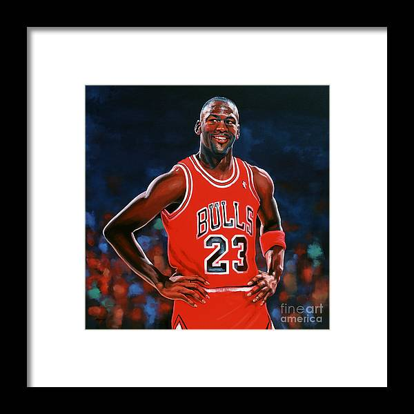 Michael Jordan Framed Print by Paul Meijering