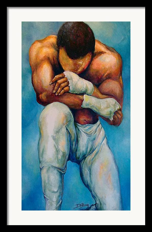 Michael Framed Print featuring the painting Michael The Print by Lloyd DeBerry