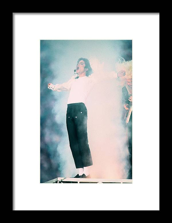Retro Images Archive Framed Print featuring the photograph Micheal Jackson Performing On Stage by Retro Images Archive