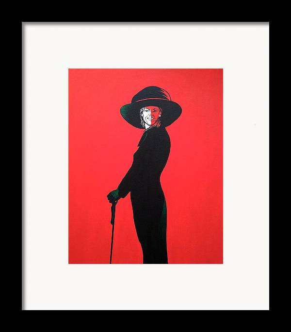 Portrait Framed Print featuring the painting Michelle Obama by Bryan Ahn