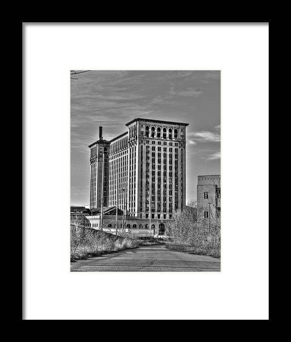Michigan Central Framed Print featuring the photograph Michigan Central Station by Nicholas Grunas