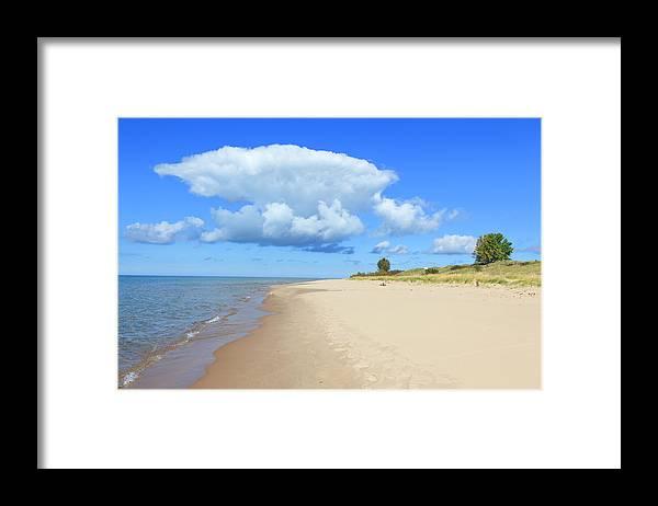 Lake Michigan Framed Print featuring the photograph Michigan Lake Shore by Espiegle