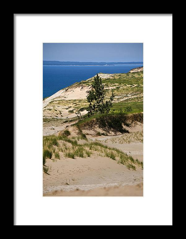 Michigan Framed Print featuring the photograph Michigan Sleeping Bear Dunes by Christina Rollo