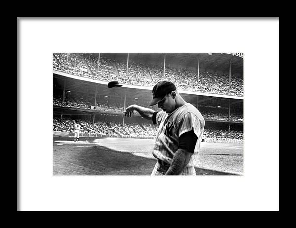 Mickey Framed Print featuring the photograph Mickey Mantle by Gianfranco Weiss