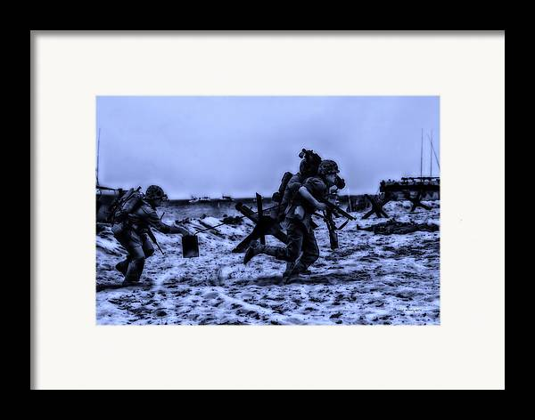Surrealist Framed Print featuring the photograph Midnight Battle Stay Close by Thomas Woolworth