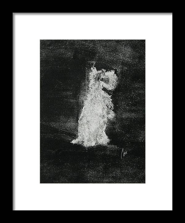 Monotype Framed Print featuring the mixed media Midnight Sonata by Cori Solomon