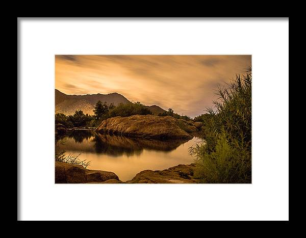 Night Art Framed Print featuring the photograph Midnight Storm by Ronald Hunt