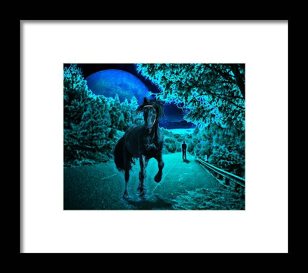 Horse Framed Print featuring the photograph Midnight Vision by Jim Painter