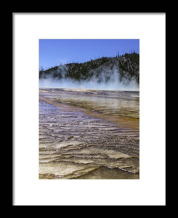 Midway Geyser Basin Framed Print featuring the photograph Midway by Carolyn Fox