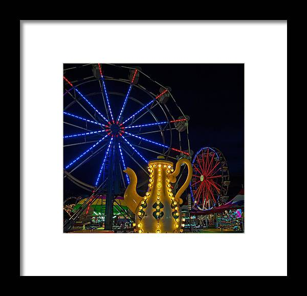 Carnival Framed Prints Framed Print featuring the photograph Midway Neon by John Harding