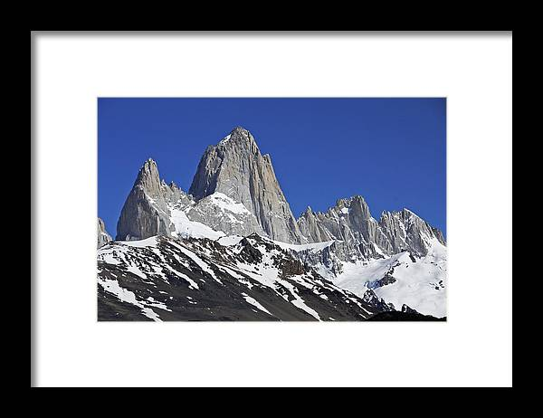 Argentina Framed Print featuring the photograph Mighty Mount Fitz Roy by Michele Burgess