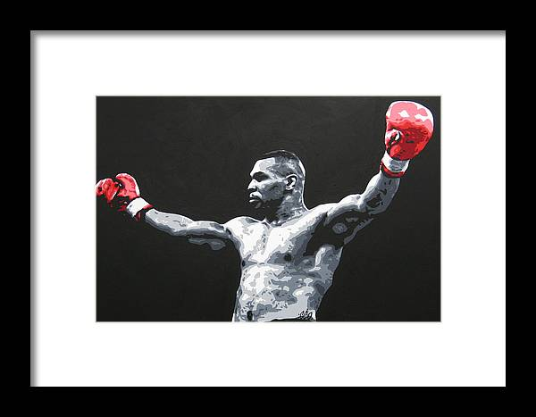 Mike Tyson Framed Print featuring the painting Mike Tyson 1 by Geo Thomson