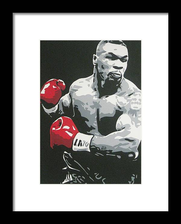 Mike Tyson Framed Print featuring the painting Mike Tyson 2 by Geo Thomson