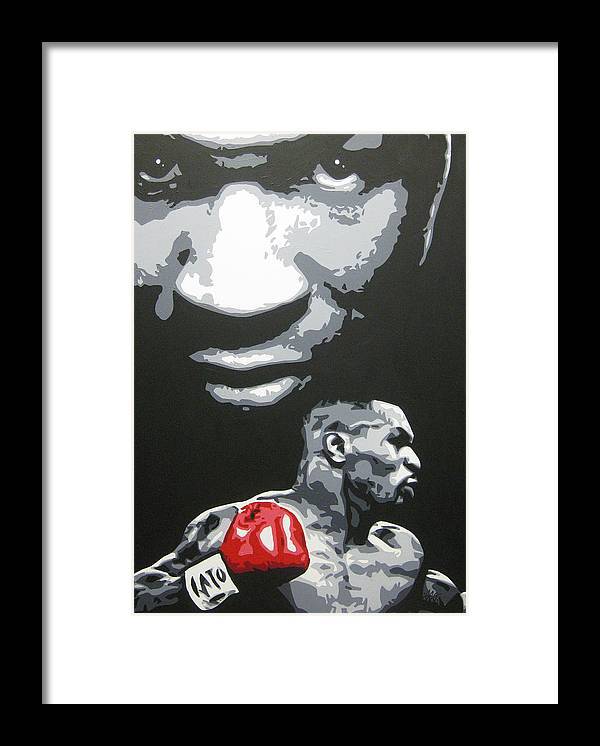 Mike Tyson Framed Print featuring the painting Mike Tyson 4 by Geo Thomson