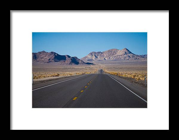 Road Framed Print featuring the photograph Miles by Amy Stonebraker